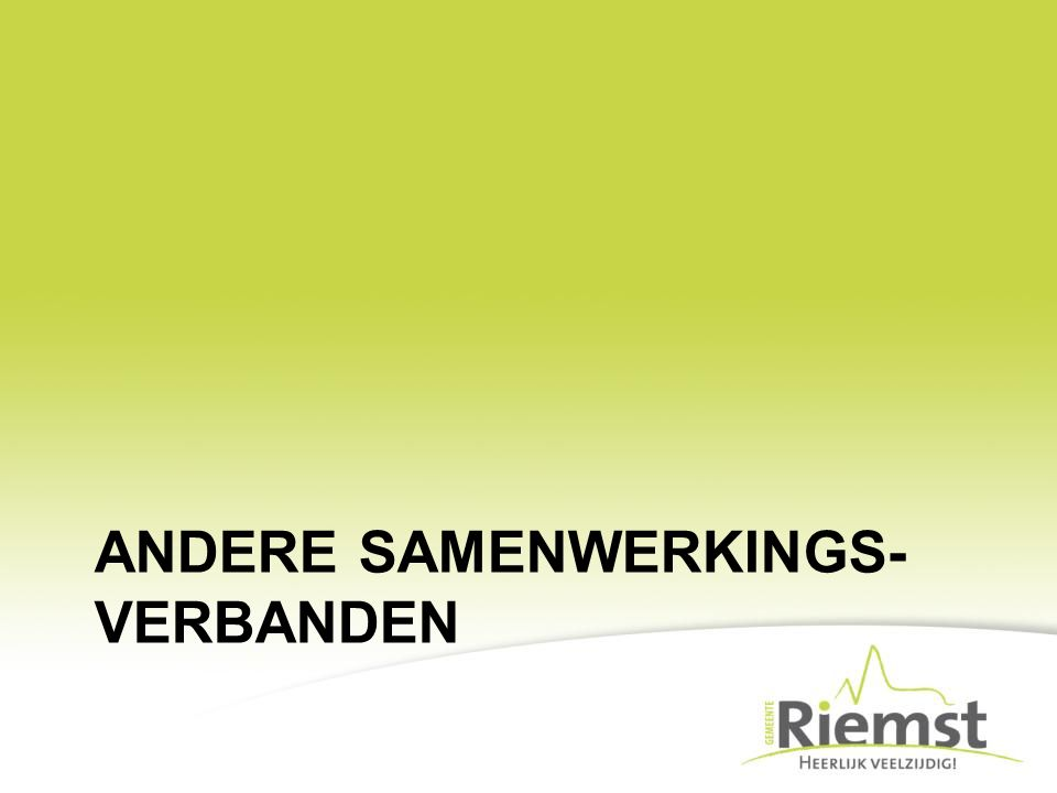 ANDERE SAMENWERKINGS- VERBANDEN