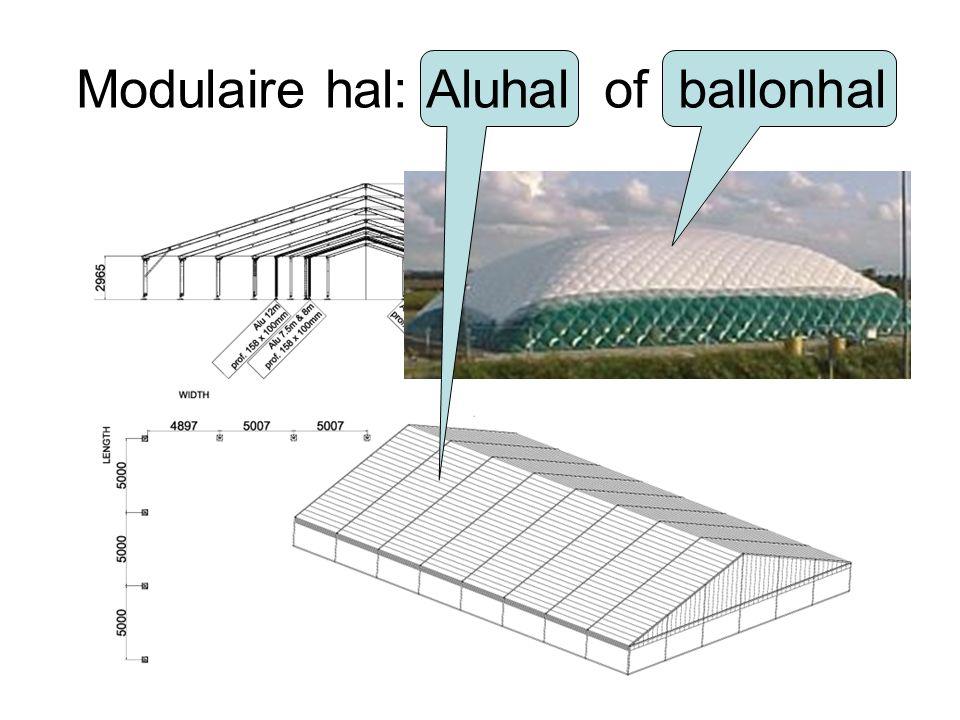 Modulaire hal: Aluhal of ballonhal