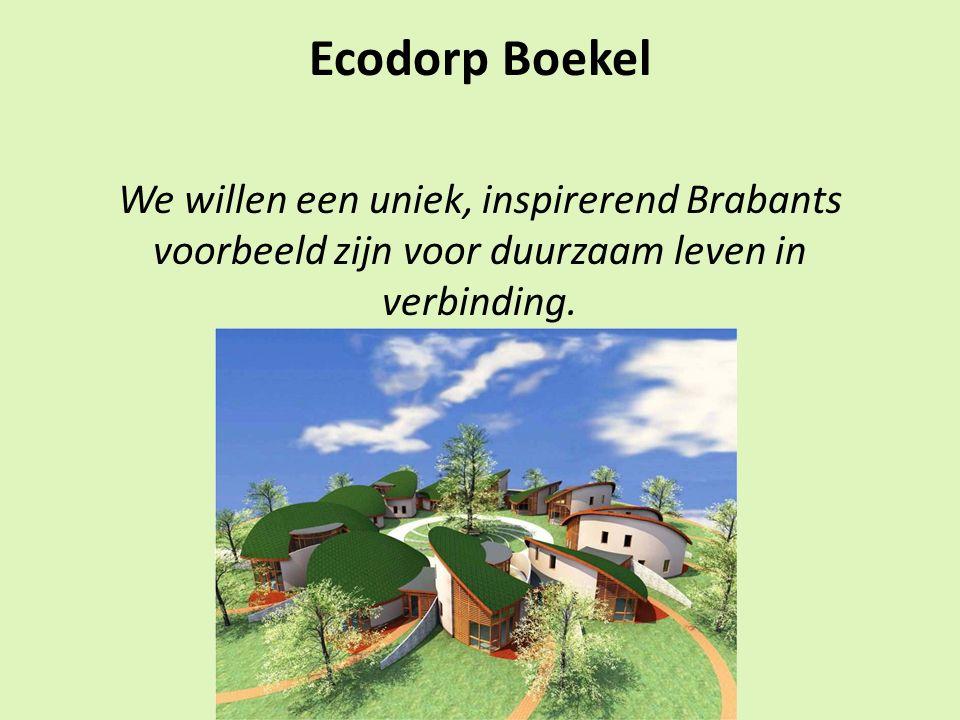 Ecodorp Boekel We willen een uniek, inspirerend Brabants voorbeeld zijn voor duurzaam leven in verbinding.