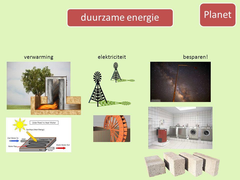 Planet duurzame energie verwarmingelektriciteitbesparen!