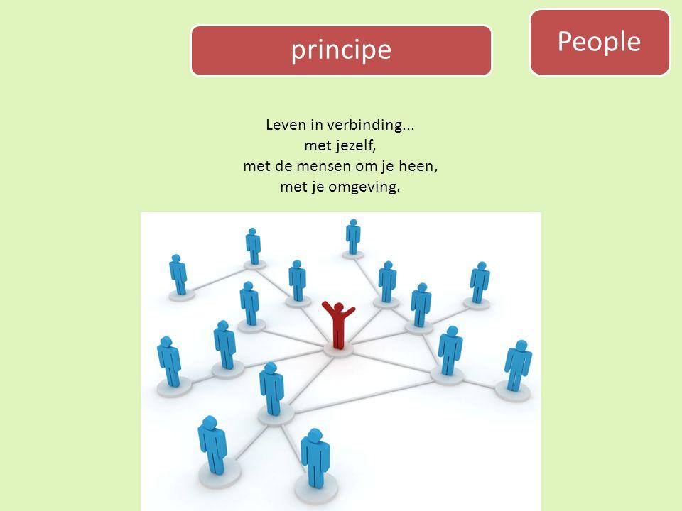 principe Leven in verbinding... met jezelf, met de mensen om je heen, met je omgeving. People