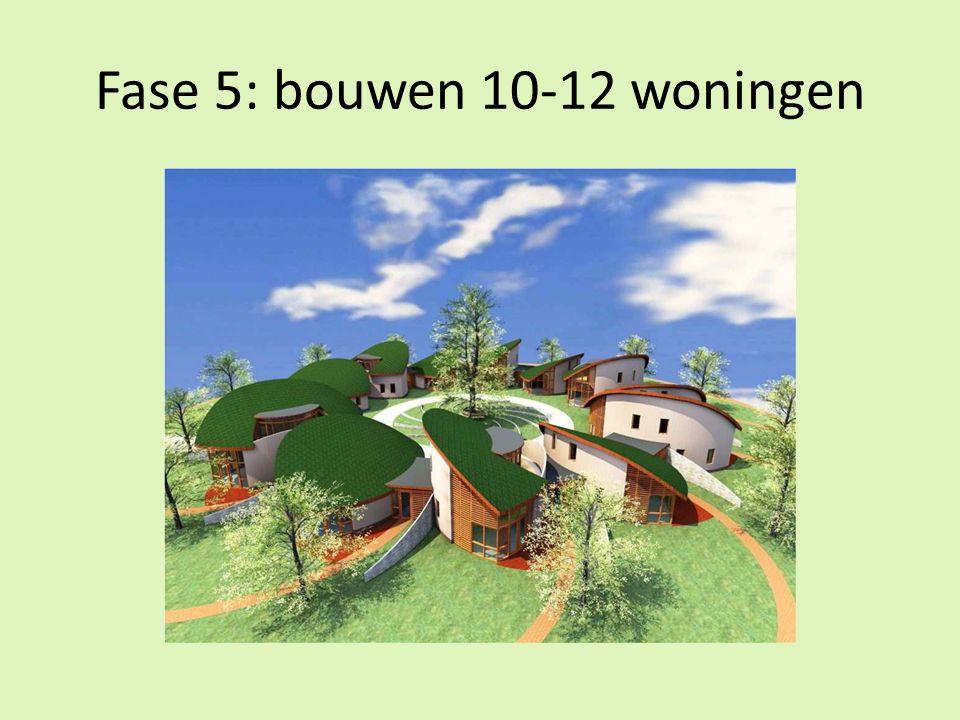 Fase 5: bouwen 10-12 woningen