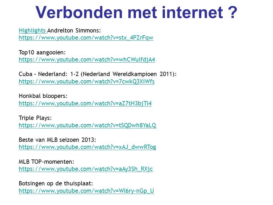Verbonden met internet .