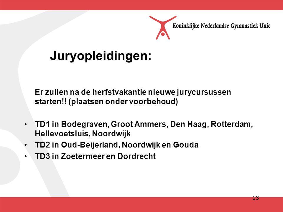 23 Juryopleidingen: Er zullen na de herfstvakantie nieuwe jurycursussen starten!.
