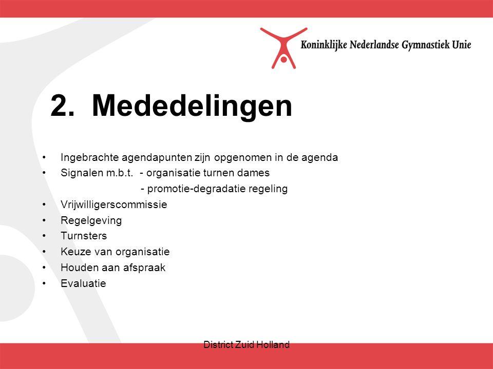 2.Mededelingen Ingebrachte agendapunten zijn opgenomen in de agenda Signalen m.b.t.