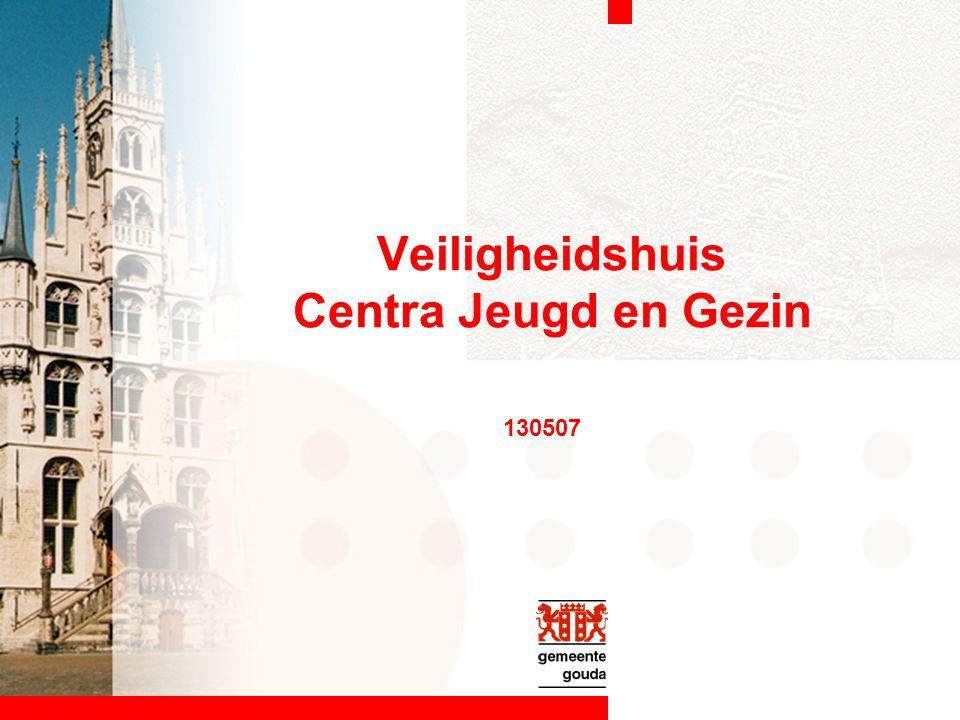 Veiligheidshuis Centra Jeugd en Gezin 130507