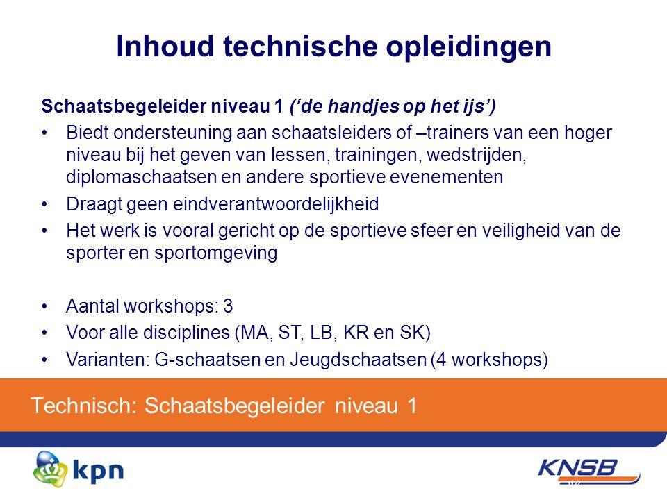 Organisatorisch: opleidingstraject Aanmelding Inschrijving via KNSB.nl Ontvangst e-mail met een bevestigingslink Minimaal 2 weken voor aanvang informatie over de opleiding