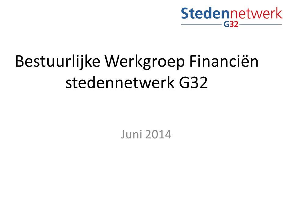 Bestuurlijke Werkgroep Financiën stedennetwerk G32 Juni 2014