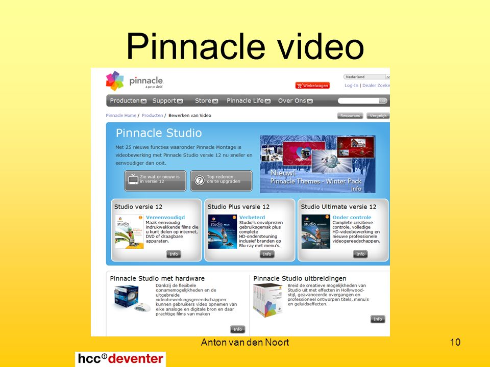 Anton van den Noort10 Pinnacle video