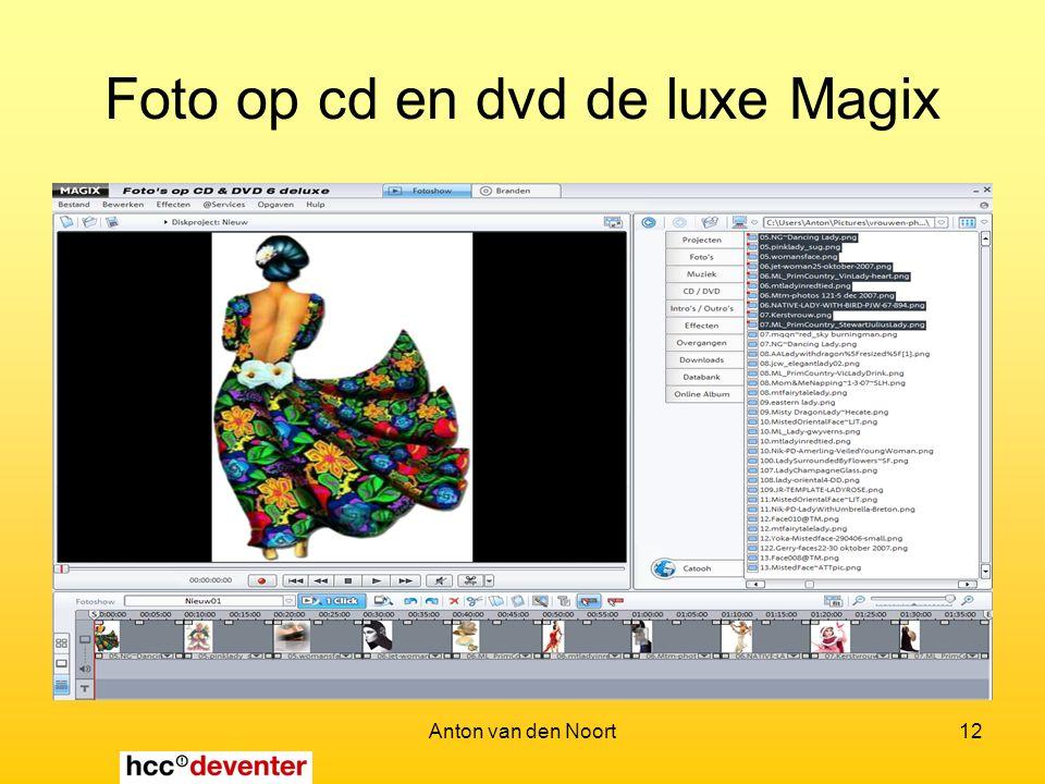 Anton van den Noort12 Foto op cd en dvd de luxe Magix