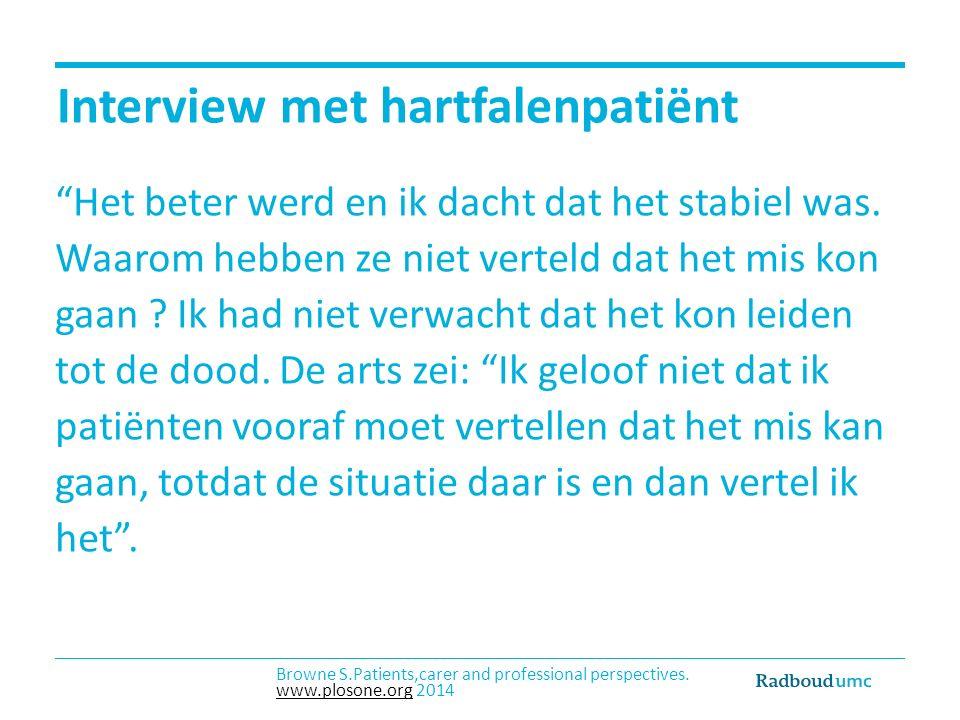 Interview met hartfalenpatiënt Het beter werd en ik dacht dat het stabiel was.