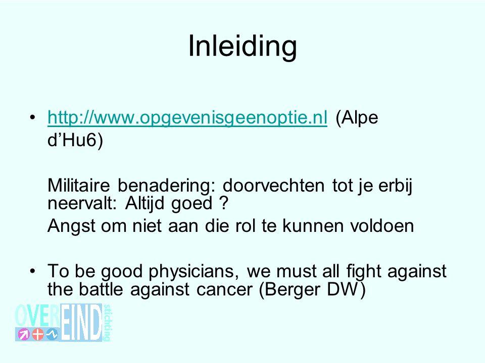 Inleiding http://www.opgevenisgeenoptie.nl (Alpehttp://www.opgevenisgeenoptie.nl d'Hu6) Militaire benadering: doorvechten tot je erbij neervalt: Altij