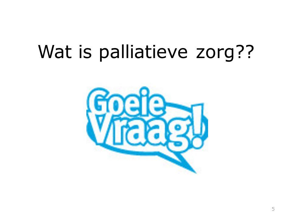Wat is palliatieve zorg 5