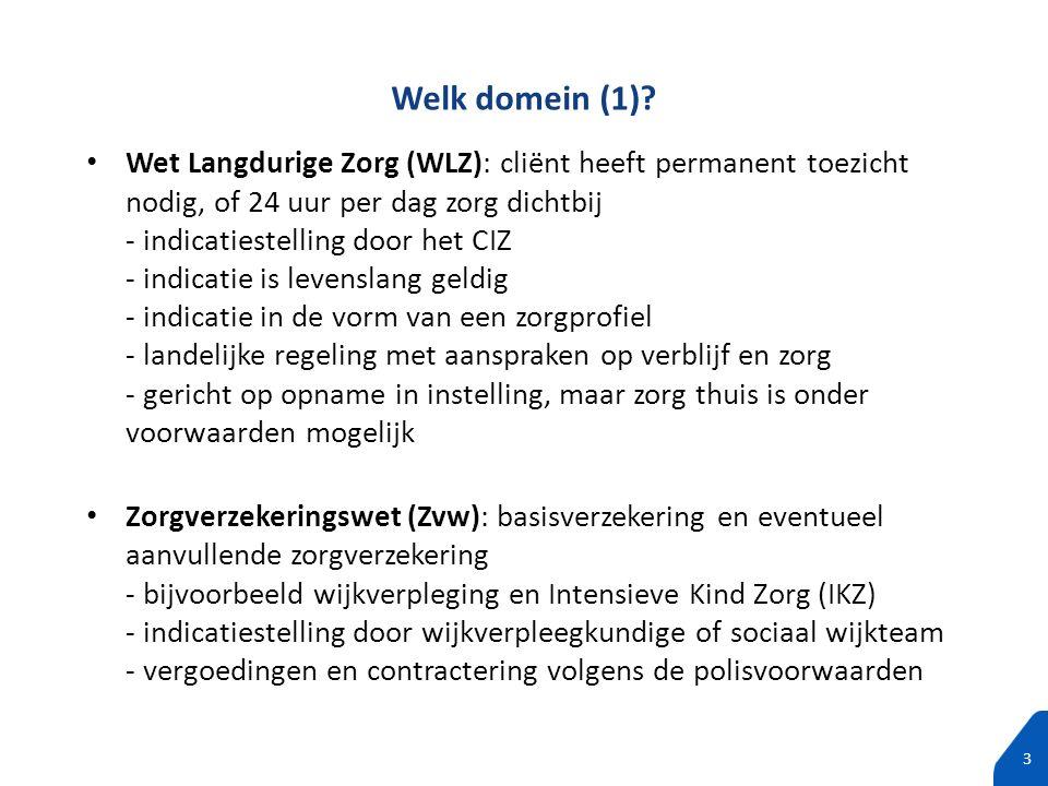 100% tekst zonder subtitels 3 Wet Langdurige Zorg (WLZ): cliënt heeft permanent toezicht nodig, of 24 uur per dag zorg dichtbij - indicatiestelling do