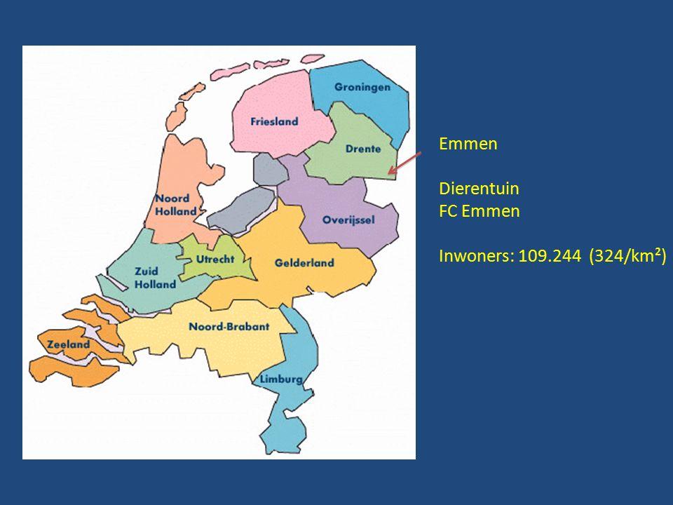 Emmen Dierentuin FC Emmen Inwoners: 109.244 (324/km²)