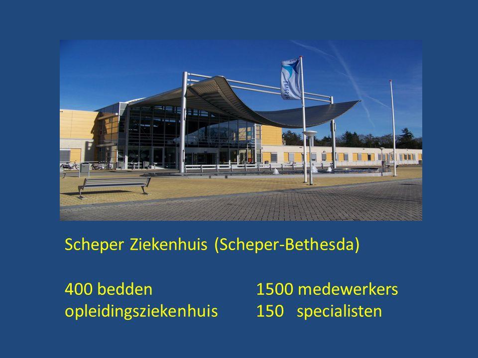 Scheper Ziekenhuis (Scheper-Bethesda) 400 bedden1500 medewerkers opleidingsziekenhuis150 specialisten