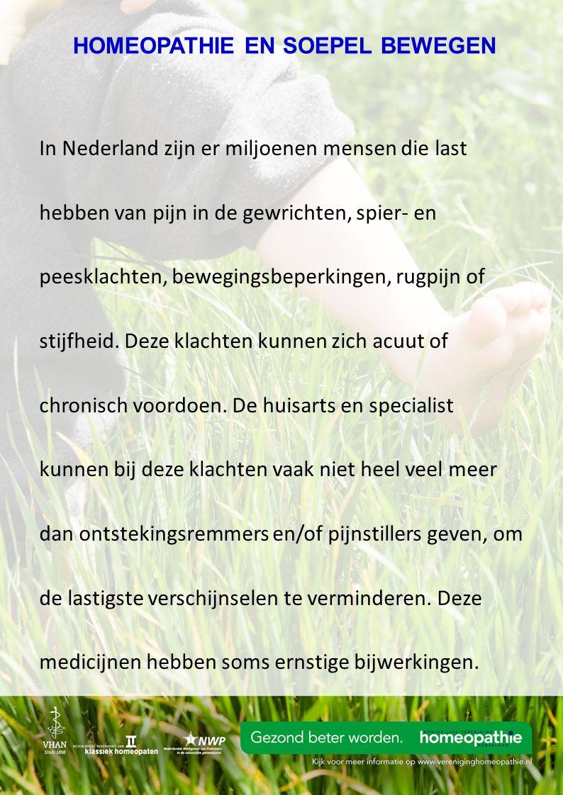 In Nederland zijn er miljoenen mensen die last hebben van pijn in de gewrichten, spier- en peesklachten, bewegingsbeperkingen, rugpijn of stijfheid.