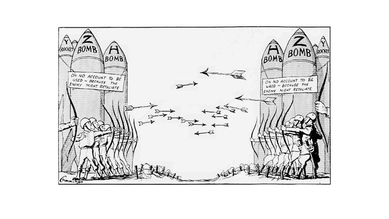 De blokkade van West-Berlijn (1948- 1949) Berlijn onderverdeeld in 4 sectoren, maar gelegen in Oost- Duitsland Voorkomen 'kapitalistisch reclamebord' Oplossing: blokkade van West-Berlijn Om hongerdood te voorkomen  Luchtbrug
