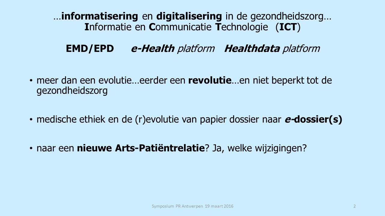 Weerslag van e-health op de arts-patiëntrelatie.
