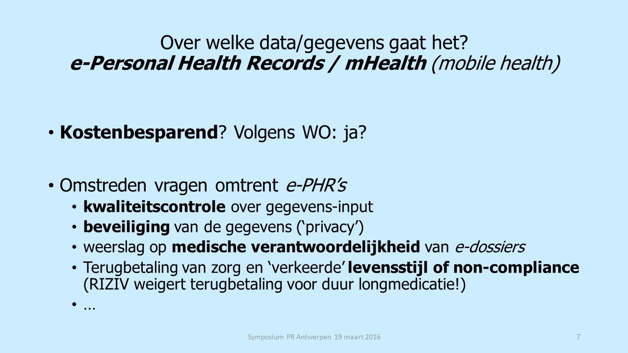 Welke 'gevoelige' data/gegevens in het EMD/EPD .