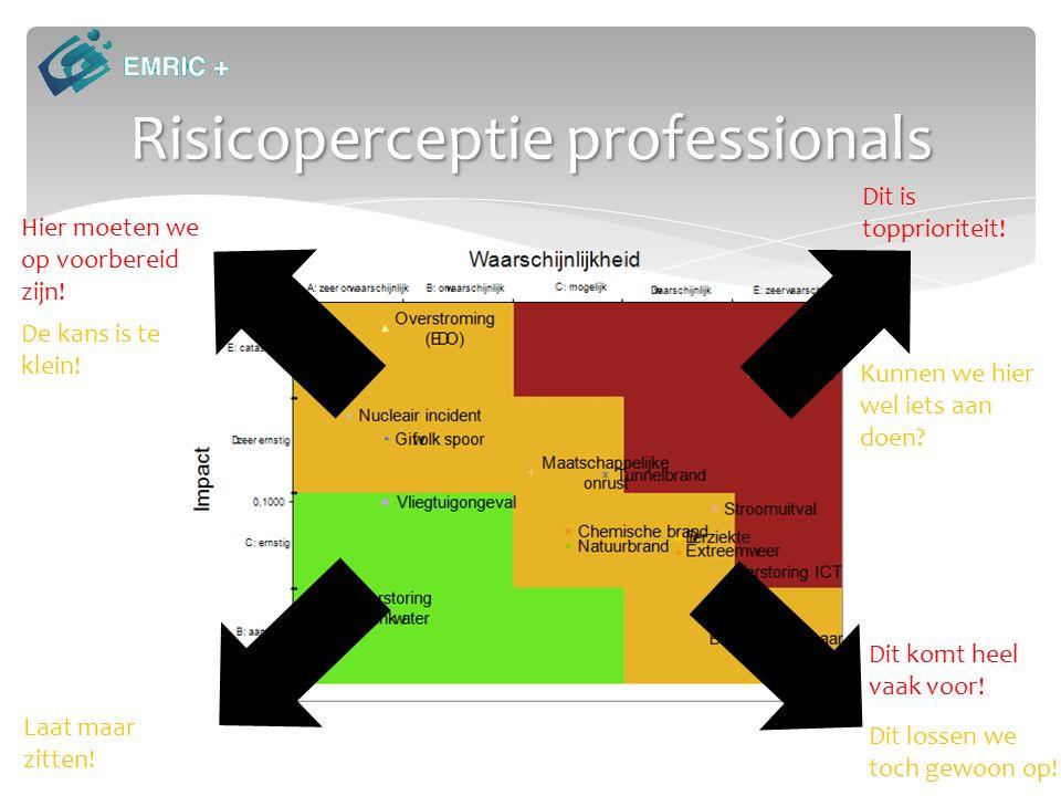 Risicoperceptie professionals Hier moeten we op voorbereid zijn.