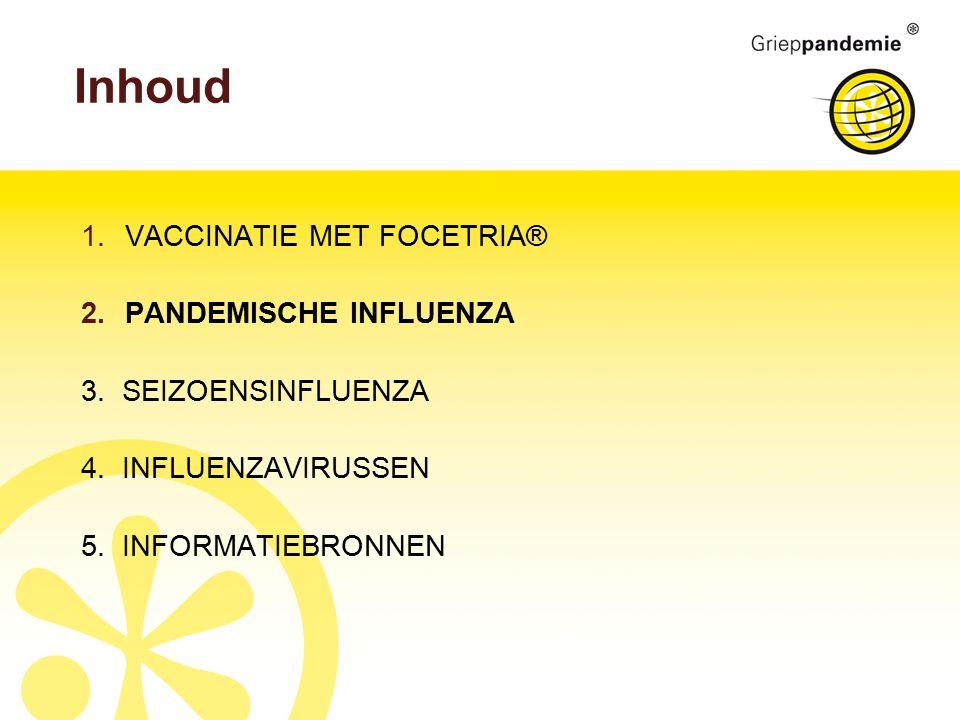 Inhoud 1.VACCINATIE MET FOCETRIA® 2.PANDEMISCHE INFLUENZA 3.