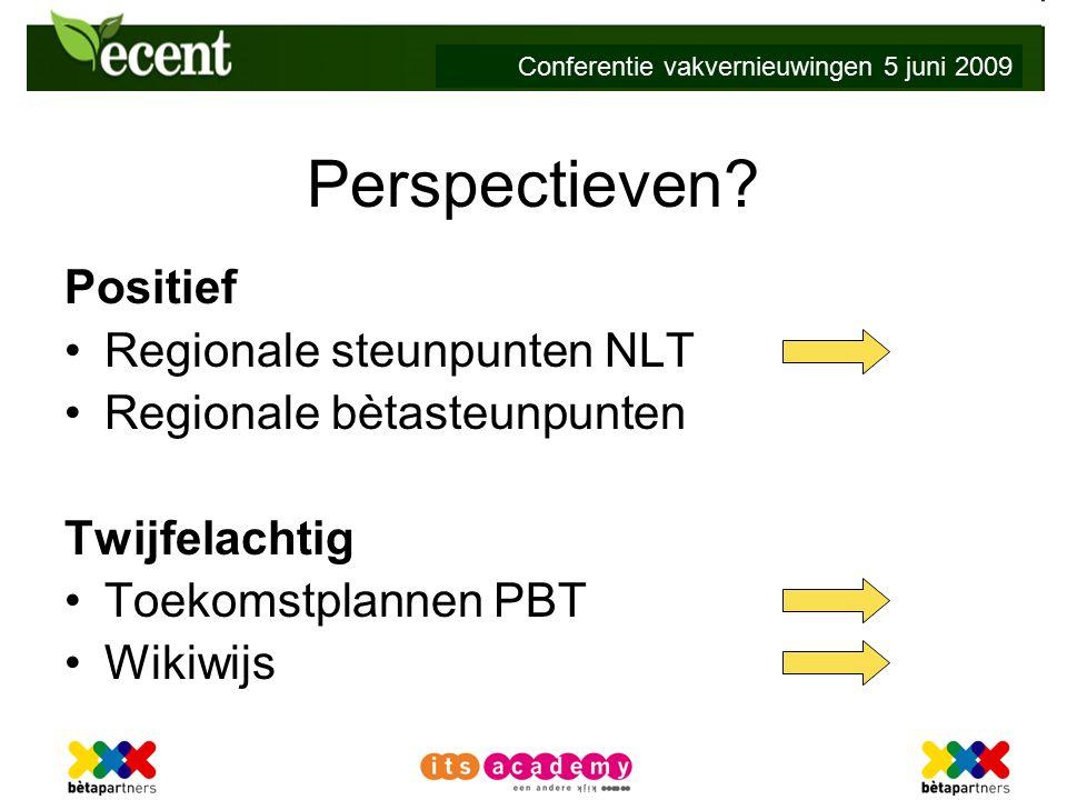 Conferentie vakvernieuwingen 5 juni 2009 Perspectieven.