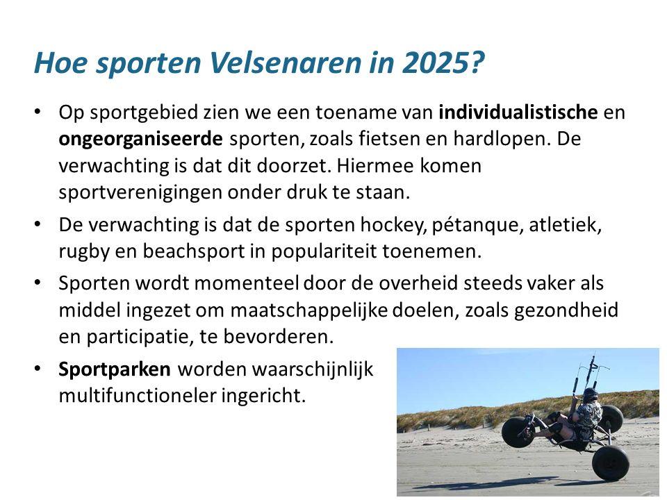 12 Hoe sporten Velsenaren in 2025? Op sportgebied zien we een toename van individualistische en ongeorganiseerde sporten, zoals fietsen en hardlopen.