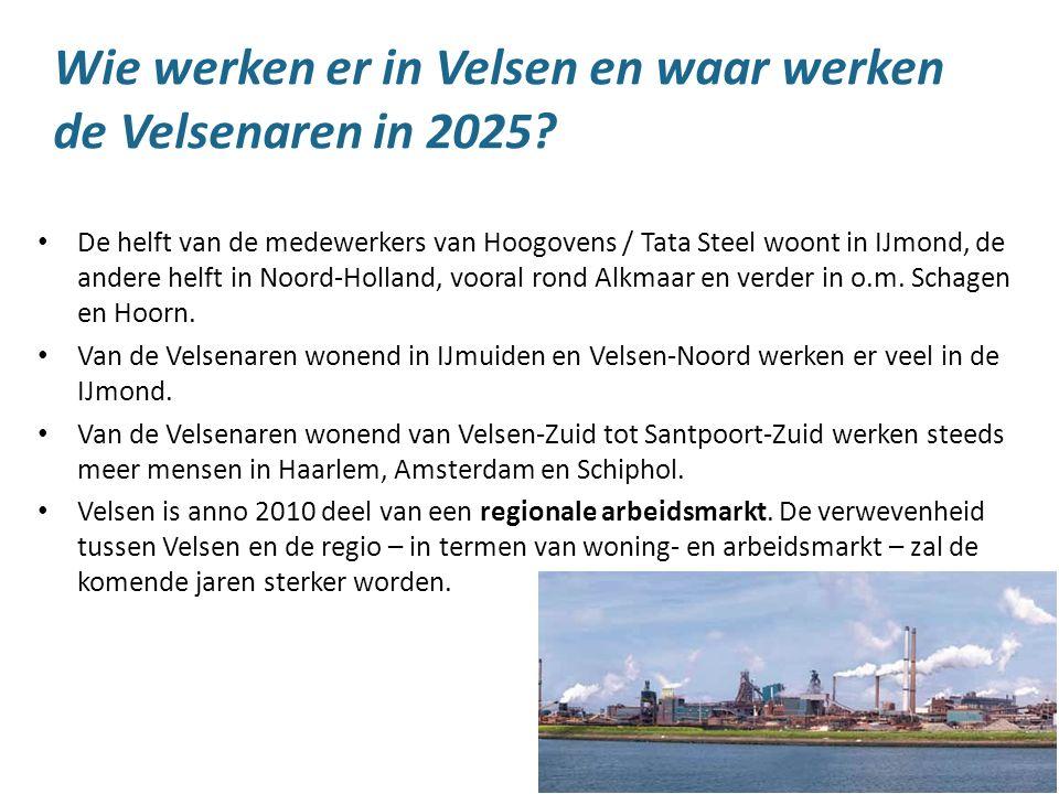 9 Wie werken er in Velsen en waar werken de Velsenaren in 2025? De helft van de medewerkers van Hoogovens / Tata Steel woont in IJmond, de andere helf