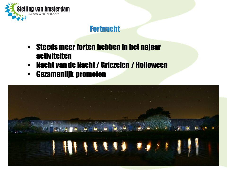 Fortnacht Steeds meer forten hebben in het najaar activiteiten Nacht van de Nacht / Griezelen / Holloween Gezamenlijk promoten