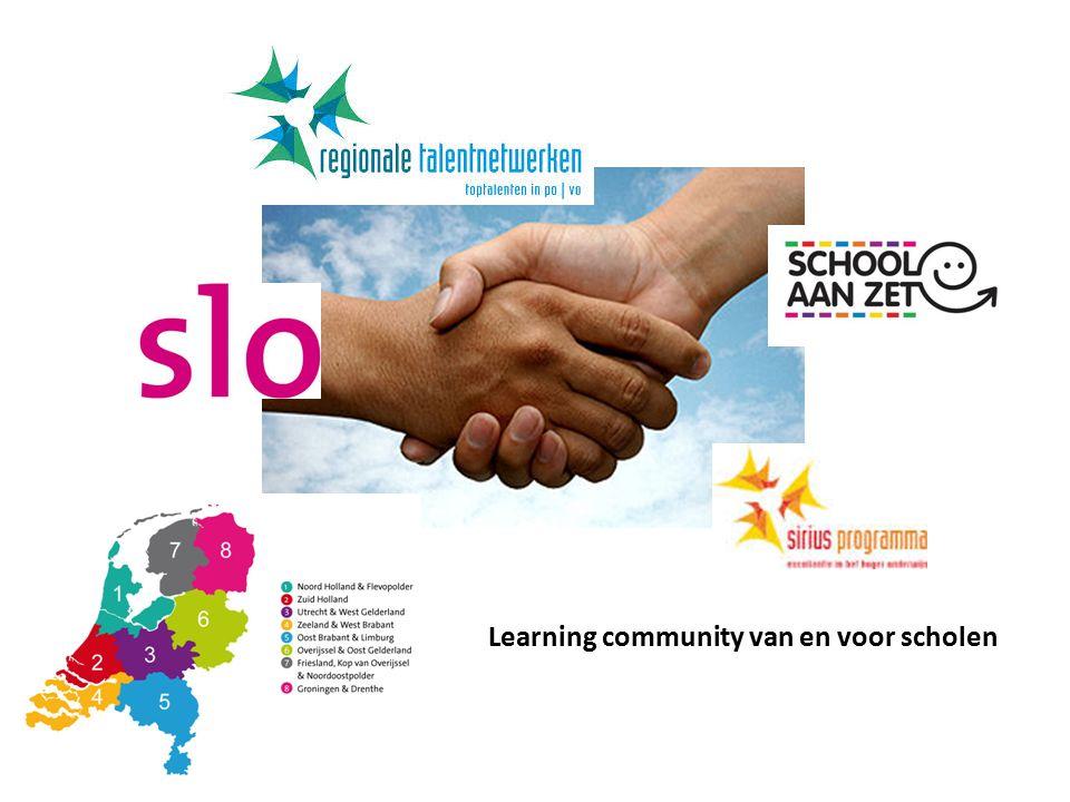 Learning community van en voor scholen
