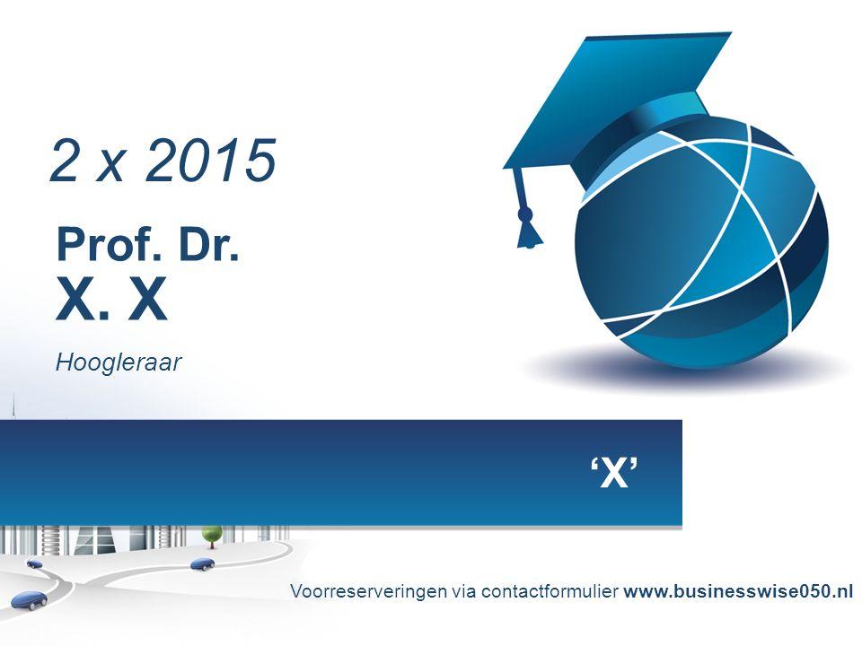 | Prof. Dr. X.