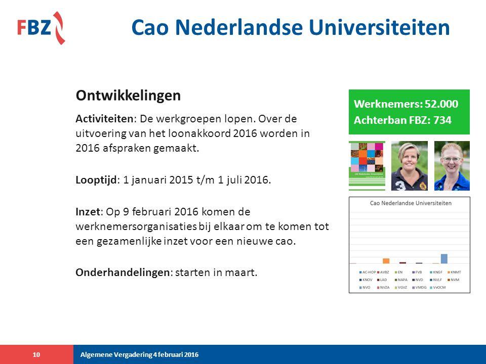 Cao Nederlandse Universiteiten Activiteiten: De werkgroepen lopen.