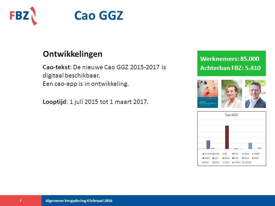 Cao Gezondheidscentra/AHG Cao opgezegd: Werkgeversorganisatie InEen heeft de Cao Gezondheidscentra/AHG per 1 januari 2015 opgezegd.