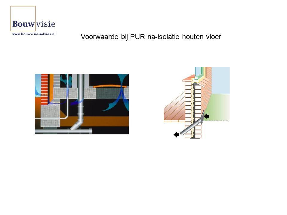 Voorwaarde bij PUR na-isolatie houten vloer