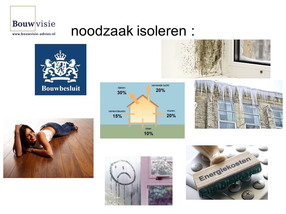 noodzaak isoleren :