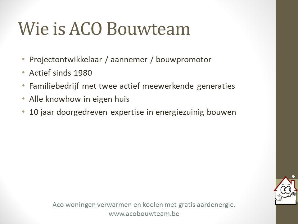 Vragen? Aco woningen verwarmen en koelen met gratis aardenergie. www.acobouwteam.be