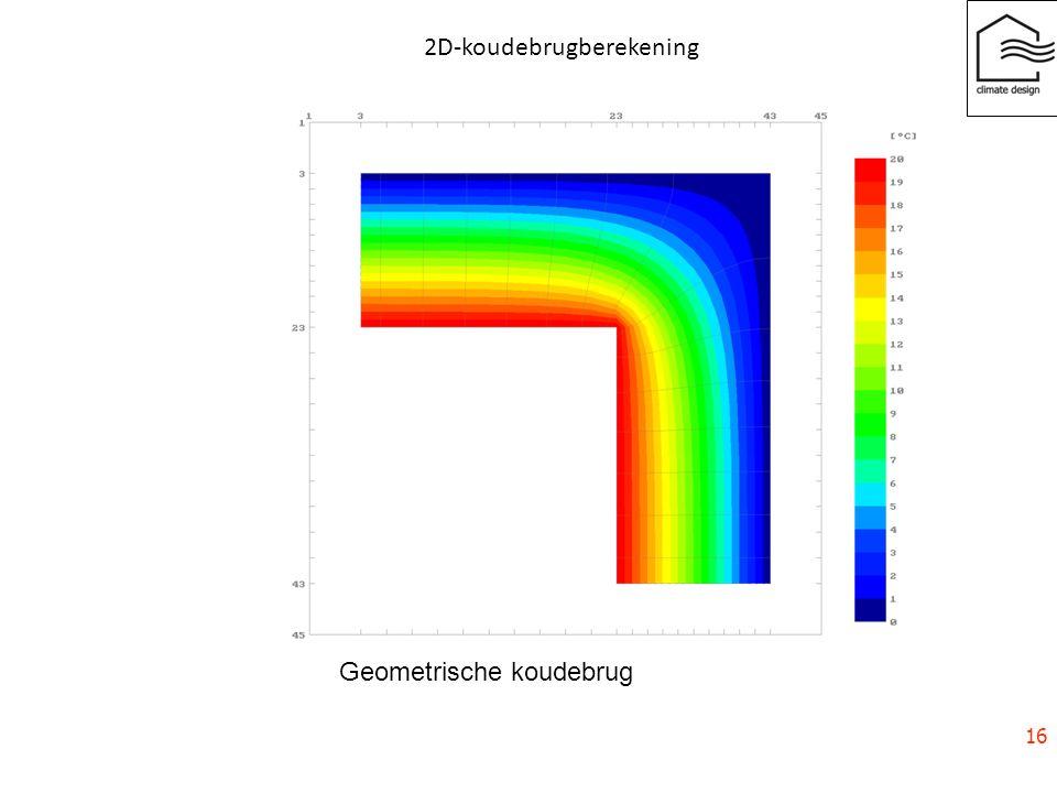 2D-koudebrugberekening Geometrische koudebrug 16