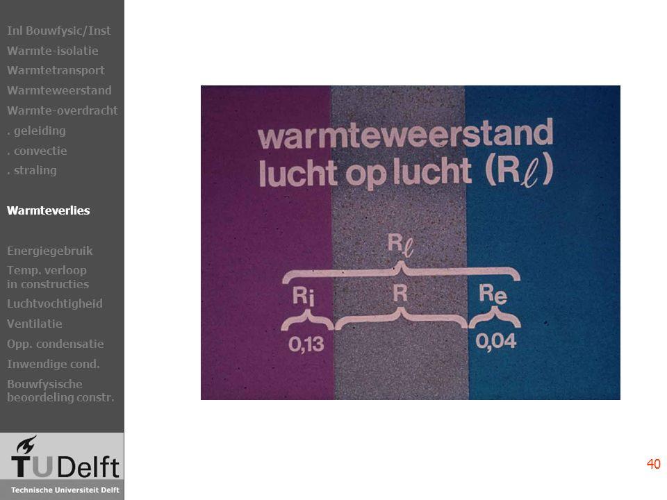 R l = R c + 0,17 [m 2.K/W] NEN 1068 Scheidingsconstructies Inl Bouwfysic/Inst Warmte-isolatie Warmtetransport Warmteweerstand Warmte-overdracht.