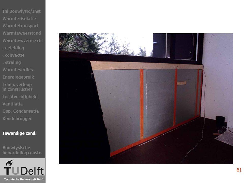 Inl Bouwfysic/Inst Warmte-isolatie Warmtetransport Warmteweerstand Warmte-overdracht.