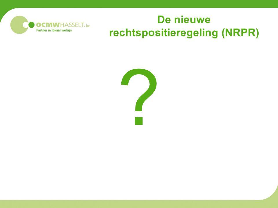 De nieuwe rechtspositieregeling (NRPR) ?