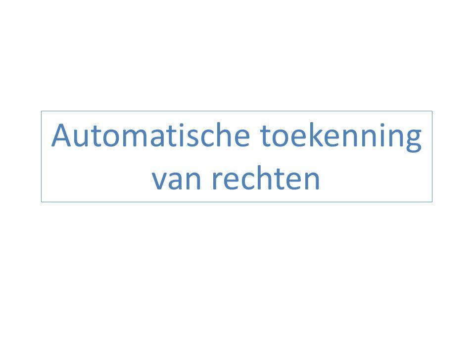 Automatische toekenning van rechten