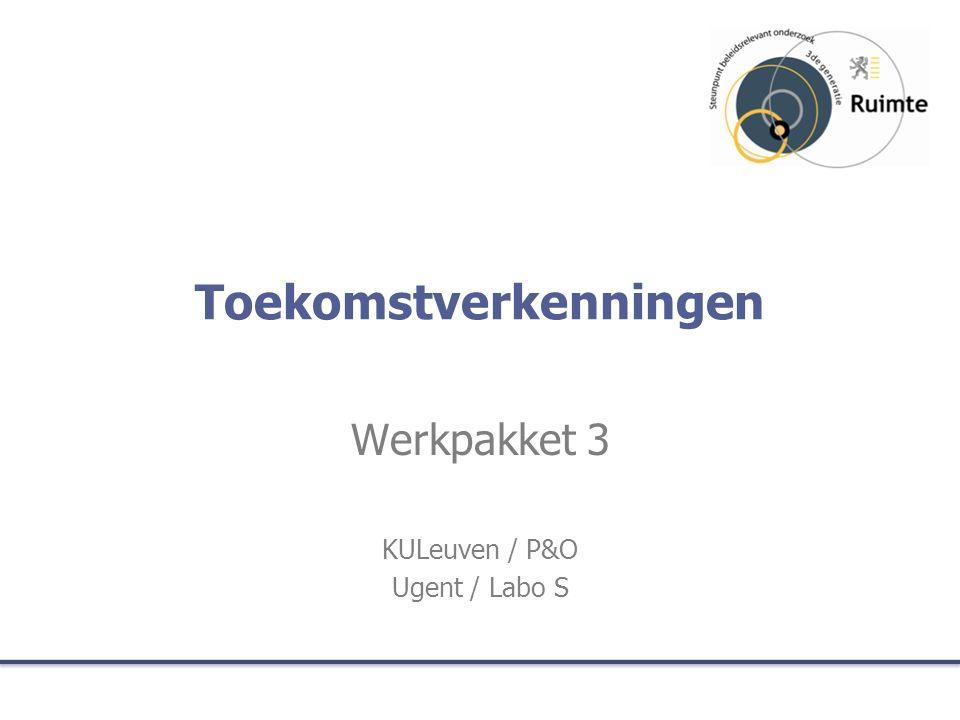 Toekomstverkenningen Werkpakket 3 KULeuven / P&O Ugent / Labo S