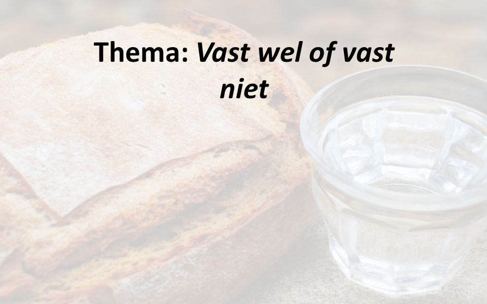 Thema: Vast wel of vast niet