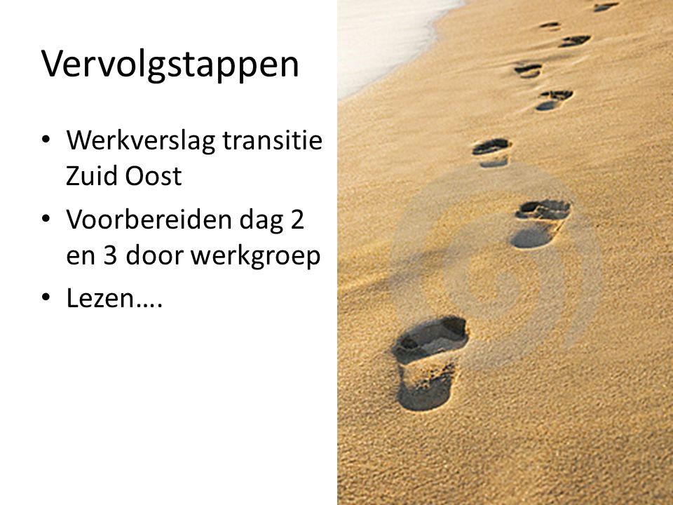 Vervolgstappen Werkverslag transitie Zuid Oost Voorbereiden dag 2 en 3 door werkgroep Lezen….