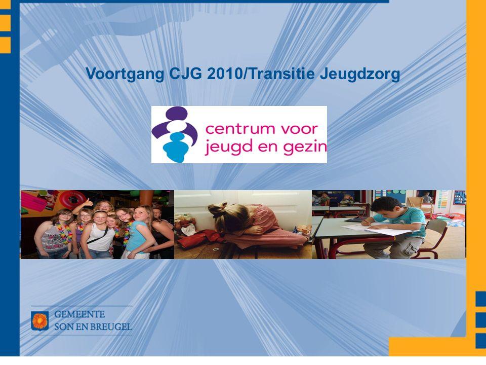 Voortgang CJG 2010/Transitie Jeugdzorg