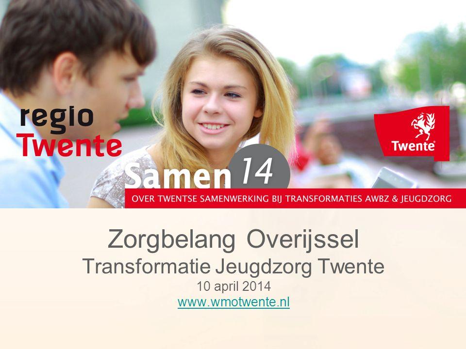 Zorgbelang Overijssel Transformatie Jeugdzorg Twente 10 april 2014 www.wmotwente.nl www.wmotwente.nl