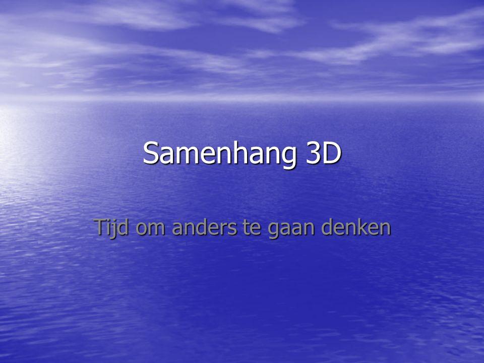 Samenhang 3D Tijd om anders te gaan denken