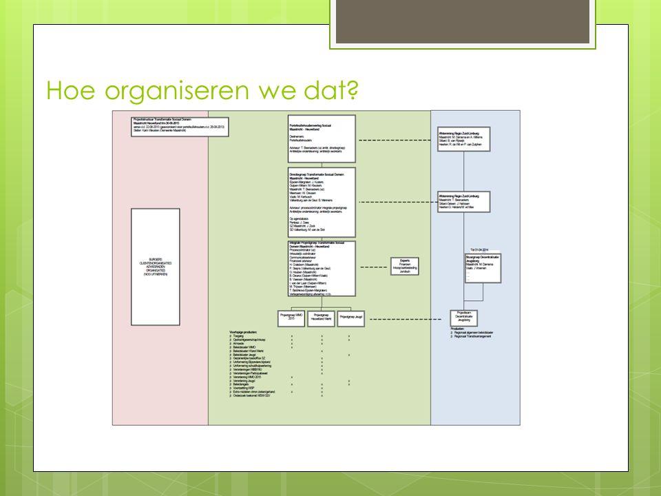 Hoe organiseren we dat