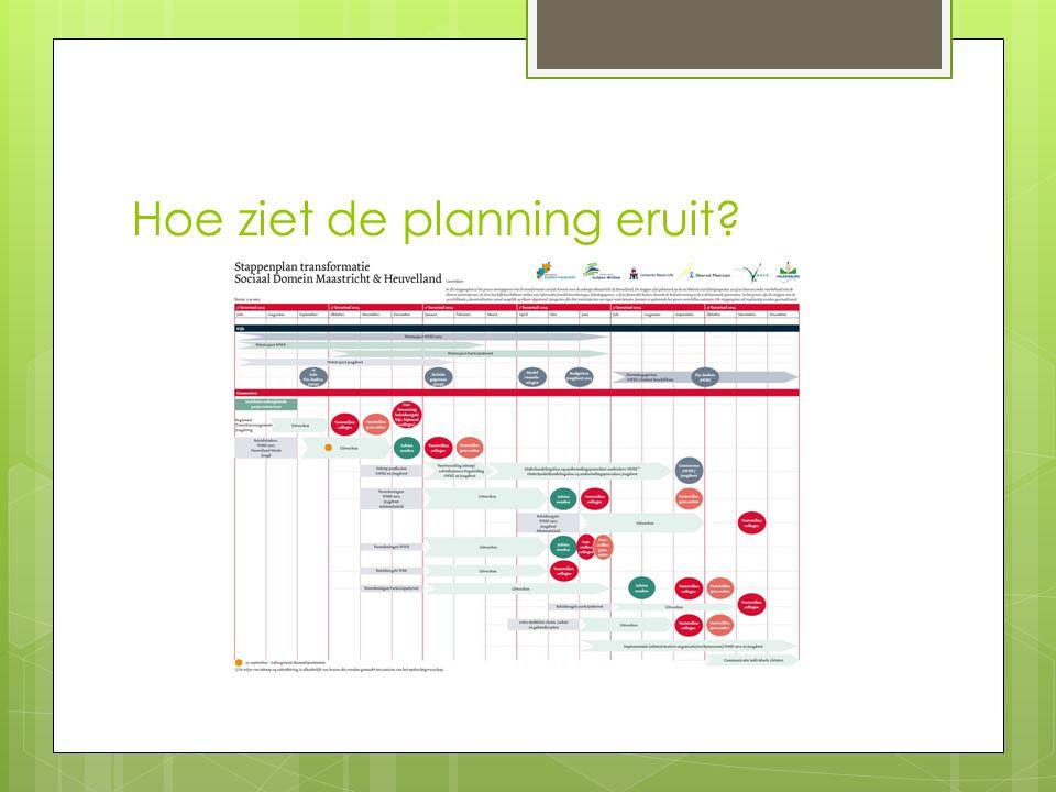Hoe ziet de planning eruit